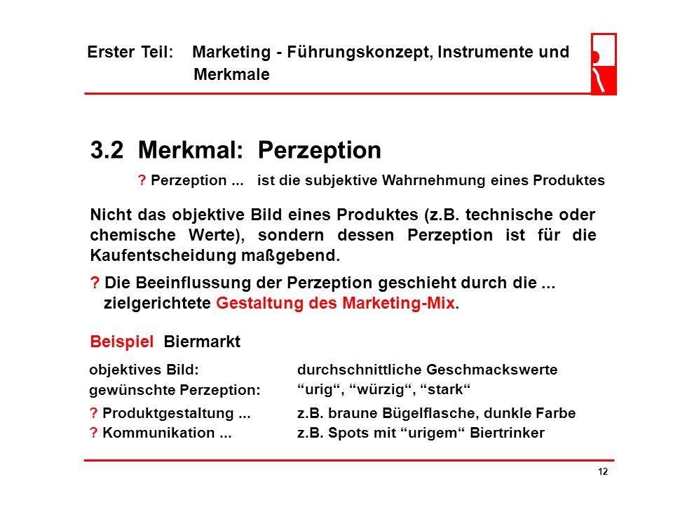 3.1 Merkmal: Kundenorientierung ? So wächst die Position des Marketing... 11 Erinnern wir uns... Der zentrale Gedanke des Marketing-Managements ist di