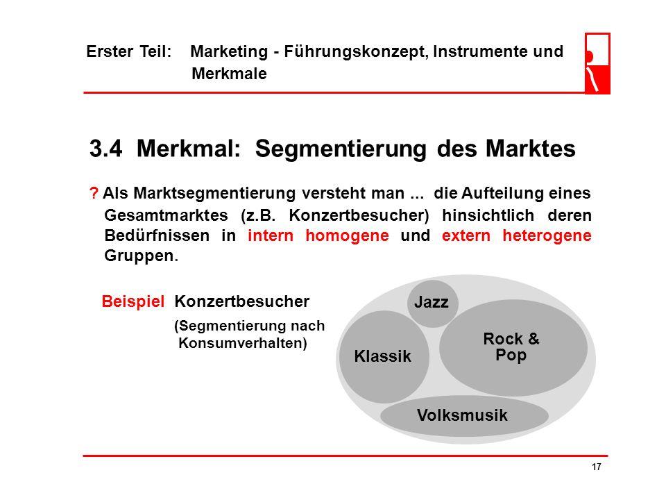 3.3 Merkmal: gesättigte Marktsituation ? Kennzeichen gesättigter Märkte ist ein... 16 weitgehend ausgeschöpftes Marktpotential mit ausgereiften und fu