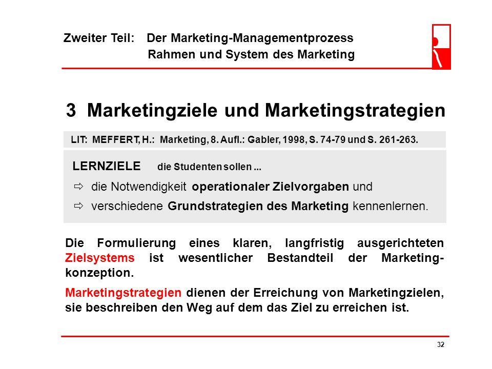 Zweiter Teil: Der Marketing-Managementprozess Rahmen und System des Marketing 31 2.6 Positionierung nicht sportlich sportlich -2 1 2 TT S-K MX-5 A8 Um