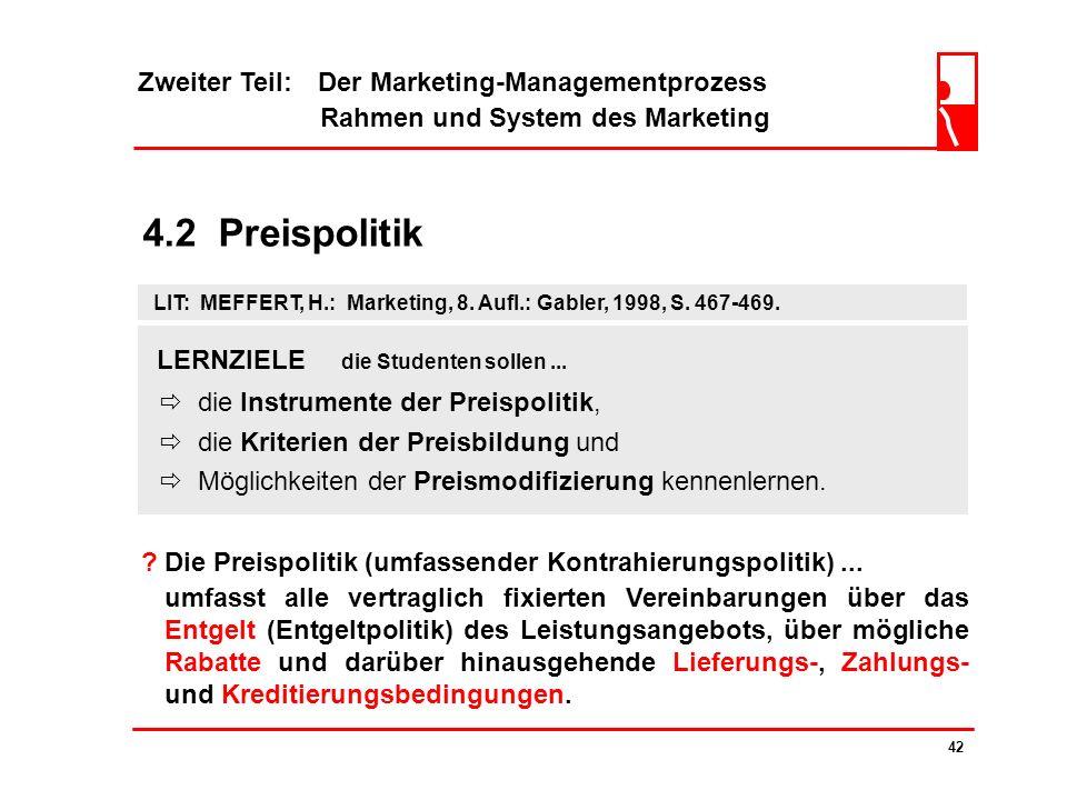 Zweiter Teil: Der Marketing-Managementprozess Rahmen und System des Marketing 41 4.1.2 Markenpolitische Entscheidungen ? Einzelproduktmarken... Marken