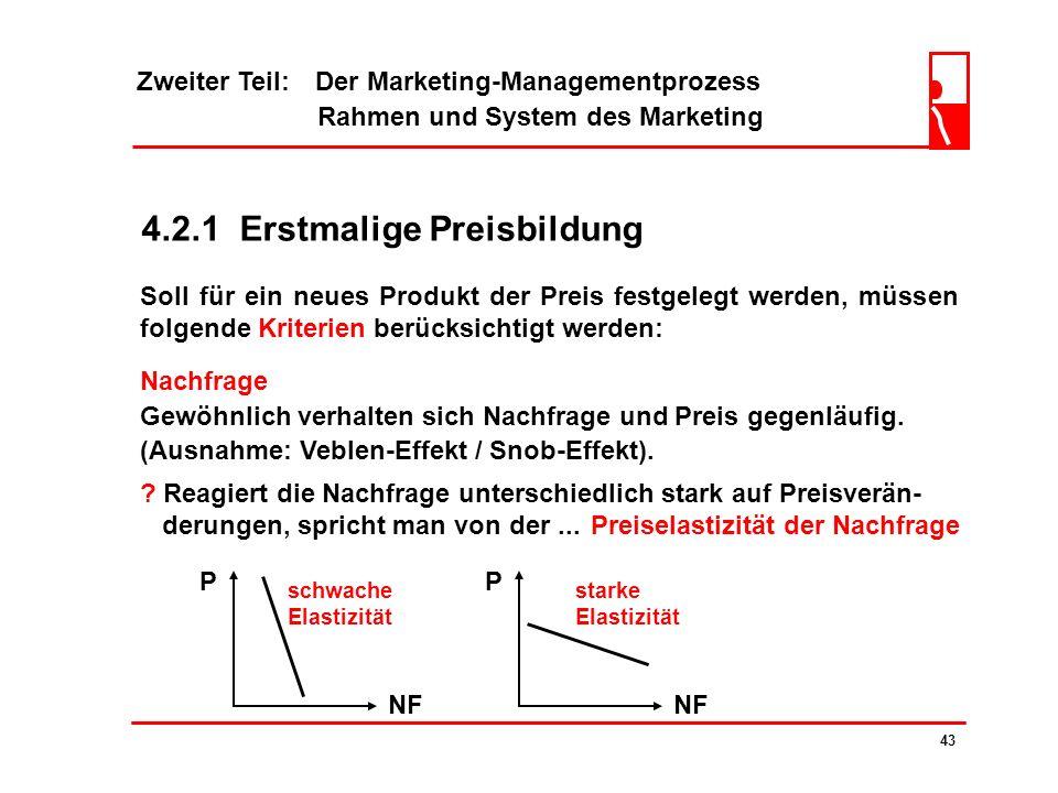 Zweiter Teil: Der Marketing-Managementprozess Rahmen und System des Marketing 42 4.2 Preispolitik ? Die Preispolitik (umfassender Kontrahierungspoliti