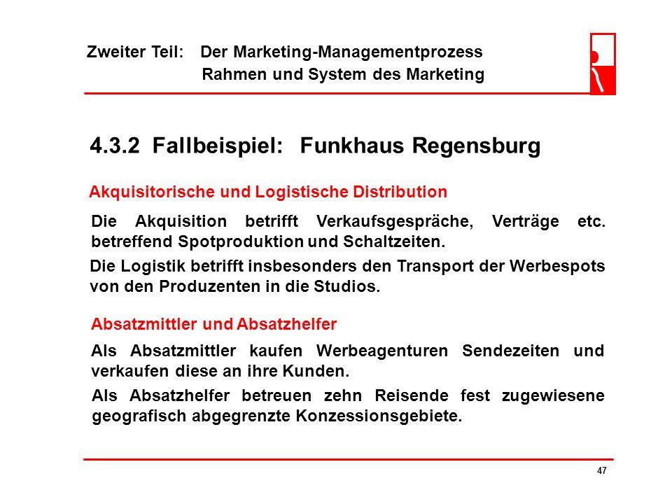 Zweiter Teil: Der Marketing-Managementprozess Rahmen und System des Marketing 46 4.3.1 Absatzmittler und Absatzhelfer ? Großhandelsbetriebe... an Wied