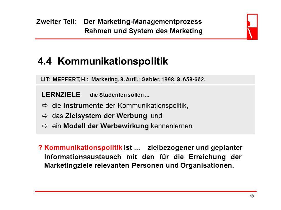 Zweiter Teil: Der Marketing-Managementprozess Rahmen und System des Marketing 47 4.3.2 Fallbeispiel: Funkhaus Regensburg Akquisitorische und Logistisc