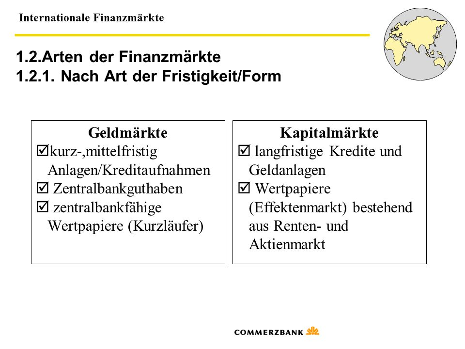 Internationale Finanzmärkte 1.2.2.