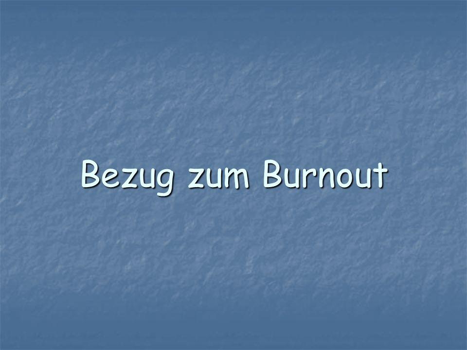Bezug zum Burnout