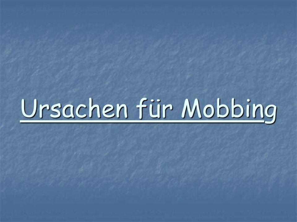 Ursachen für Mobbing