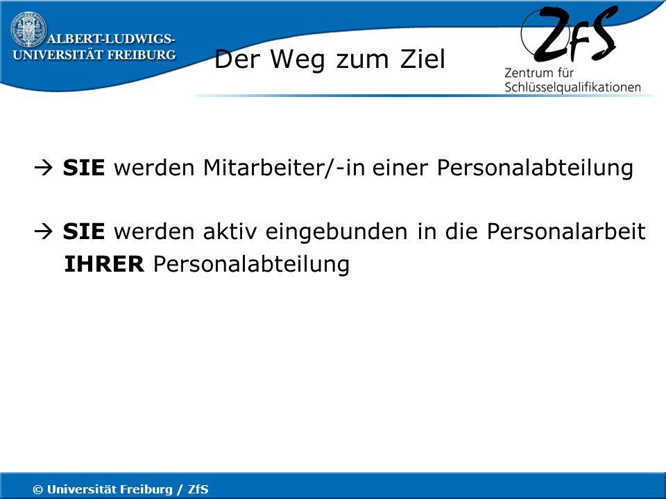 © Universität Freiburg / ZfS 5. Personalentwicklung