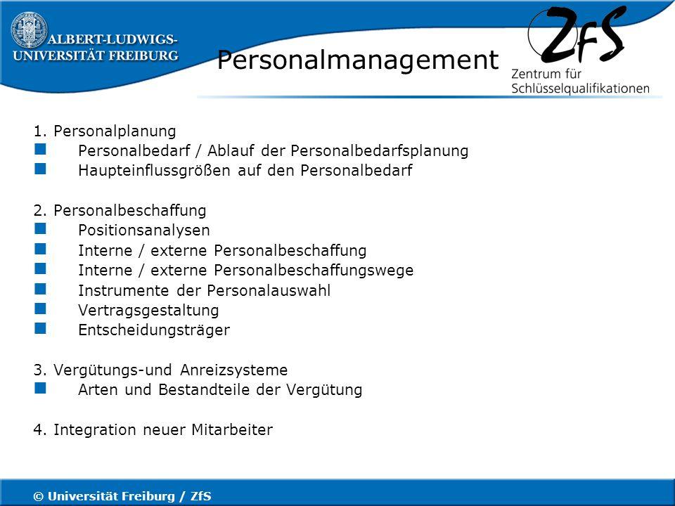 © Universität Freiburg / ZfS Personalmanagement 5.