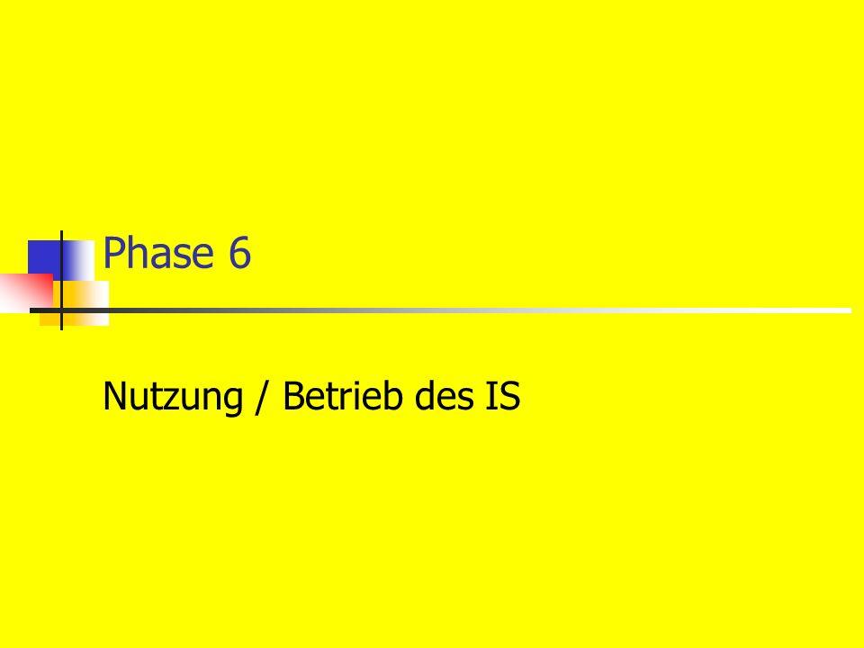 Phase 6 Nutzung / Betrieb des IS