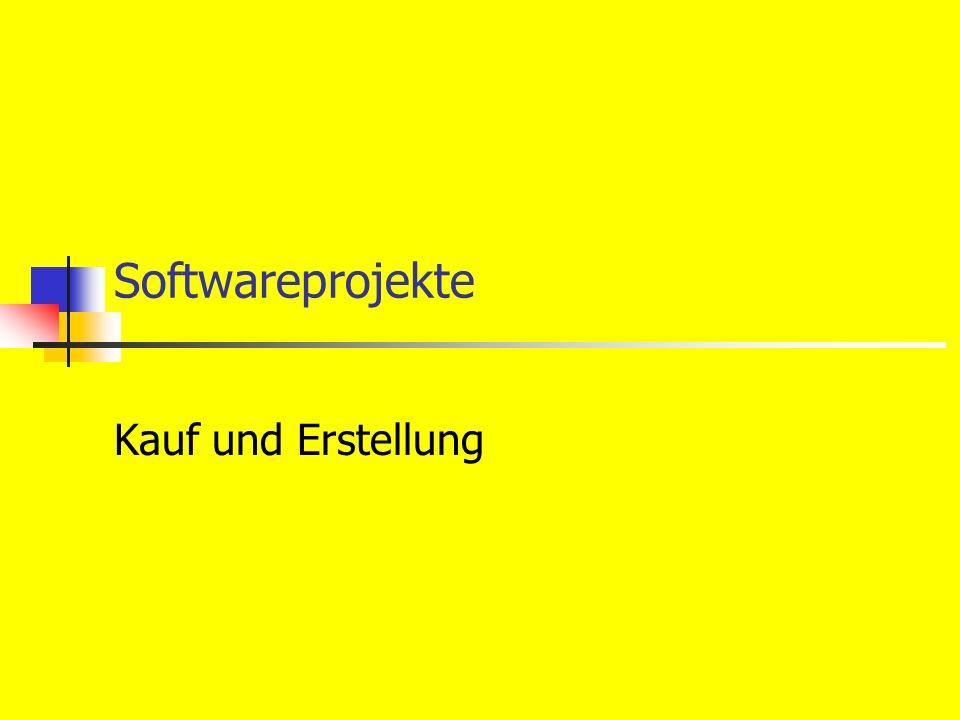 Softwareprojekte Kauf und Erstellung