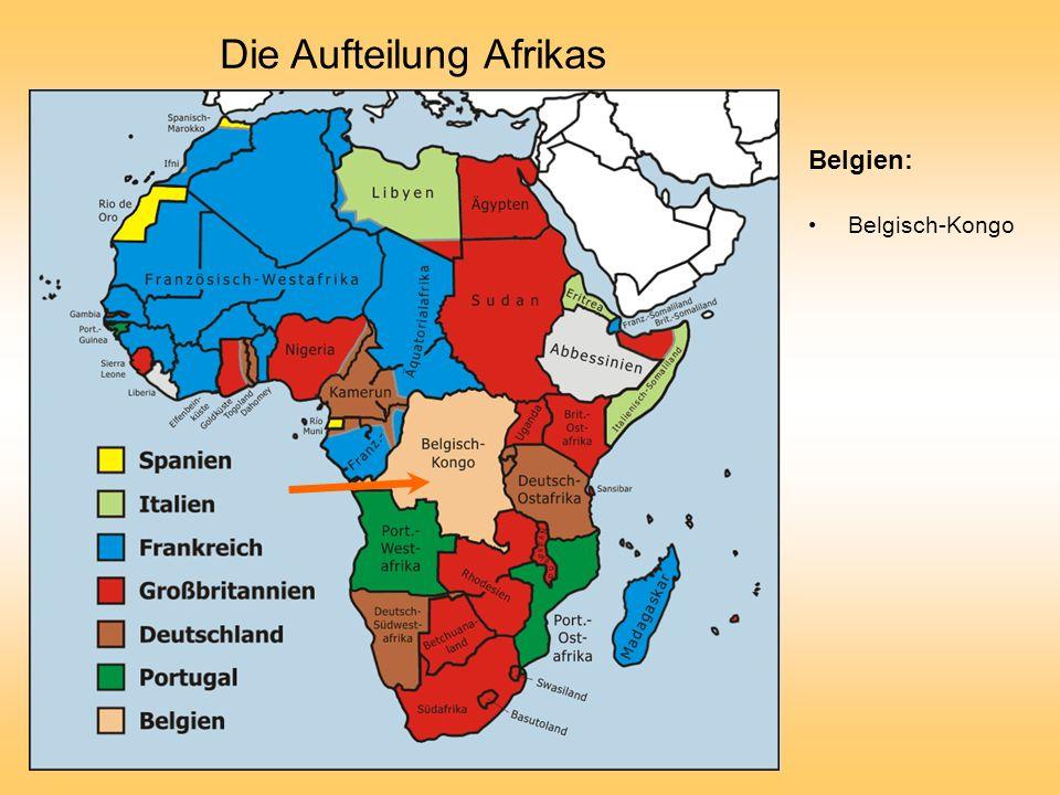 Die Aufteilung Afrikas Belgien: Belgisch-Kongo