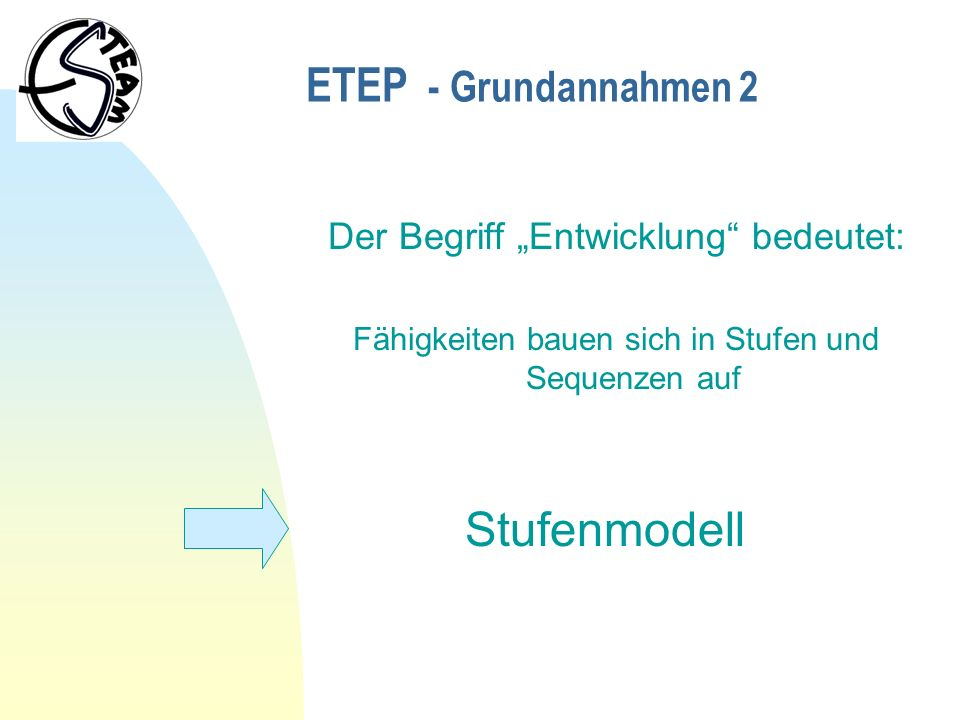 Die Entwicklungsstufen Stufe I: Mit Freude auf die Umwelt reagieren.