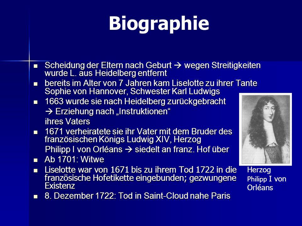 Scheidung der Eltern nach Geburt wegen Streitigkeiten wurde L. aus Heidelberg entfernt Scheidung der Eltern nach Geburt wegen Streitigkeiten wurde L.