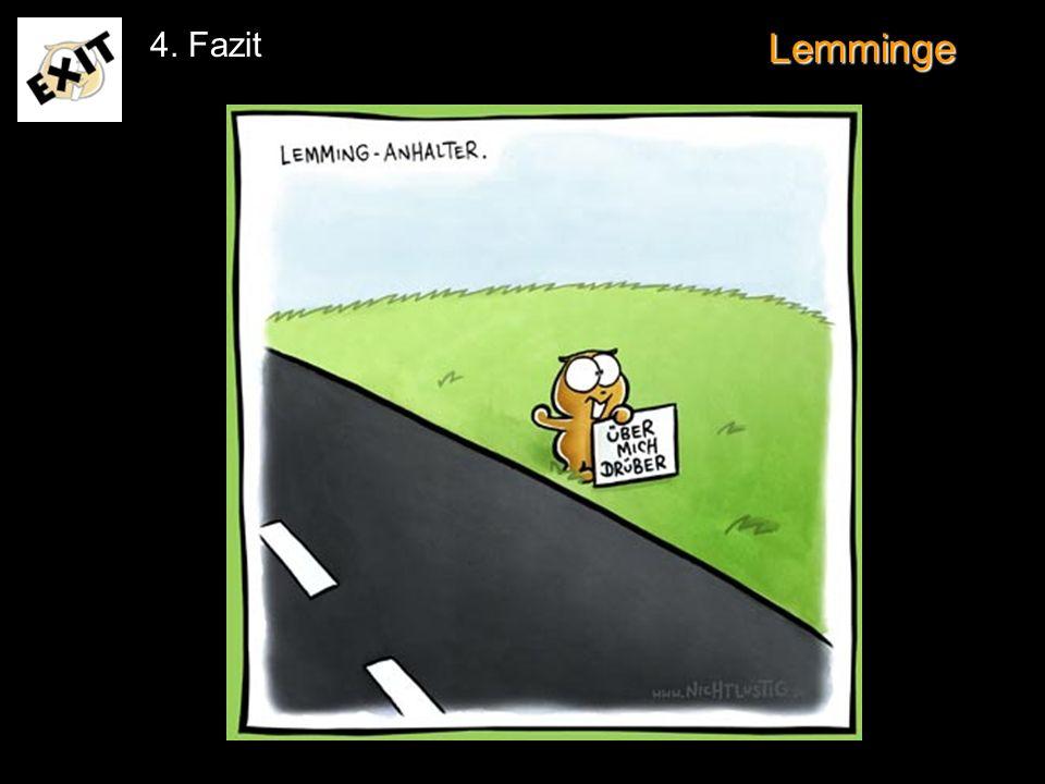 Lemminge 4. Fazit www.nichtlustig.de