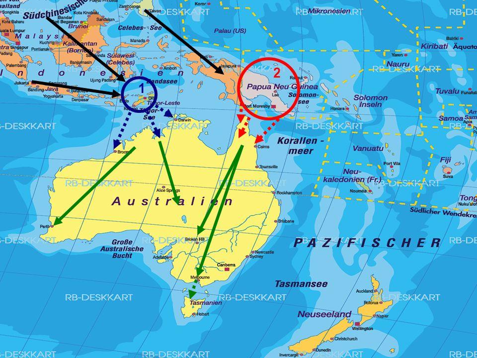 Lebensraum Natur Wirtschaftsform Zusammenleben Frau Kultur Religion Bedrohung Vor 50000 bis 60000 Jahren (Eiszeit) Tiefer Meerspiegel Von Südostasien…