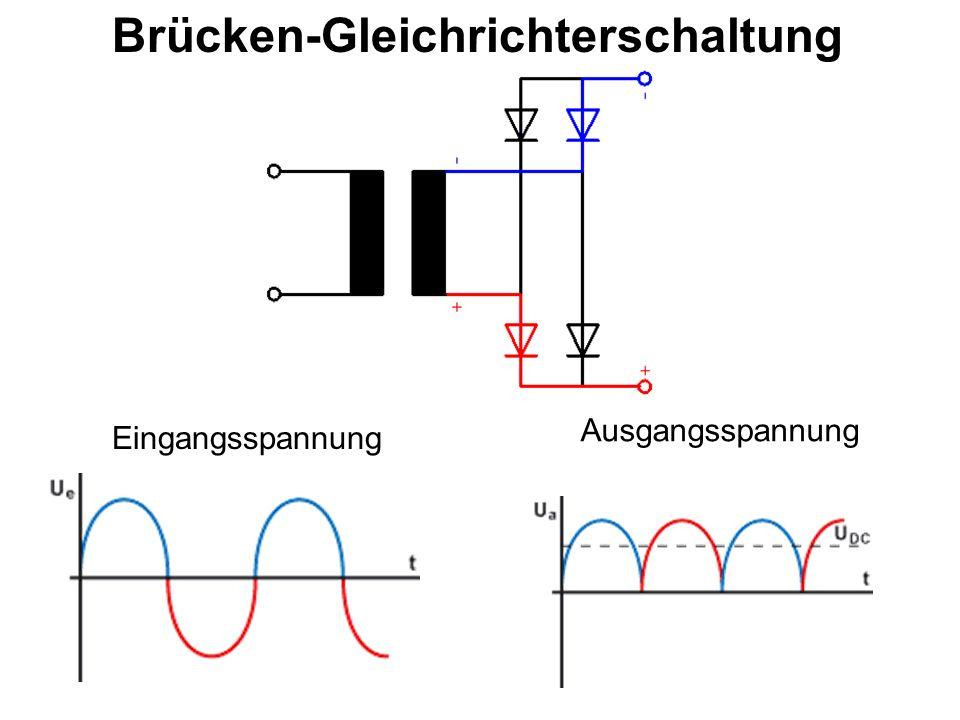 Brücken-Gleichrichterschaltung Eingangsspannung Ausgangsspannung