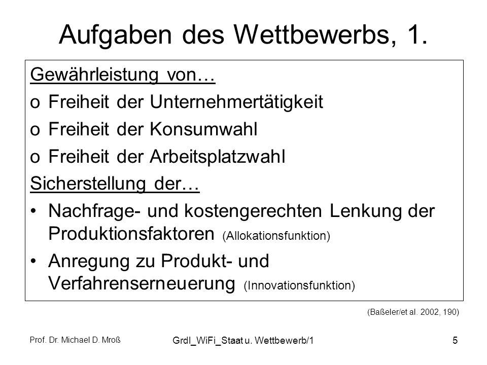 Prof.Dr. Michael D. Mroß Grdl_WiFi_Staat u. Wettbewerb/16 Aufgaben des Wettbewerbs, 2.