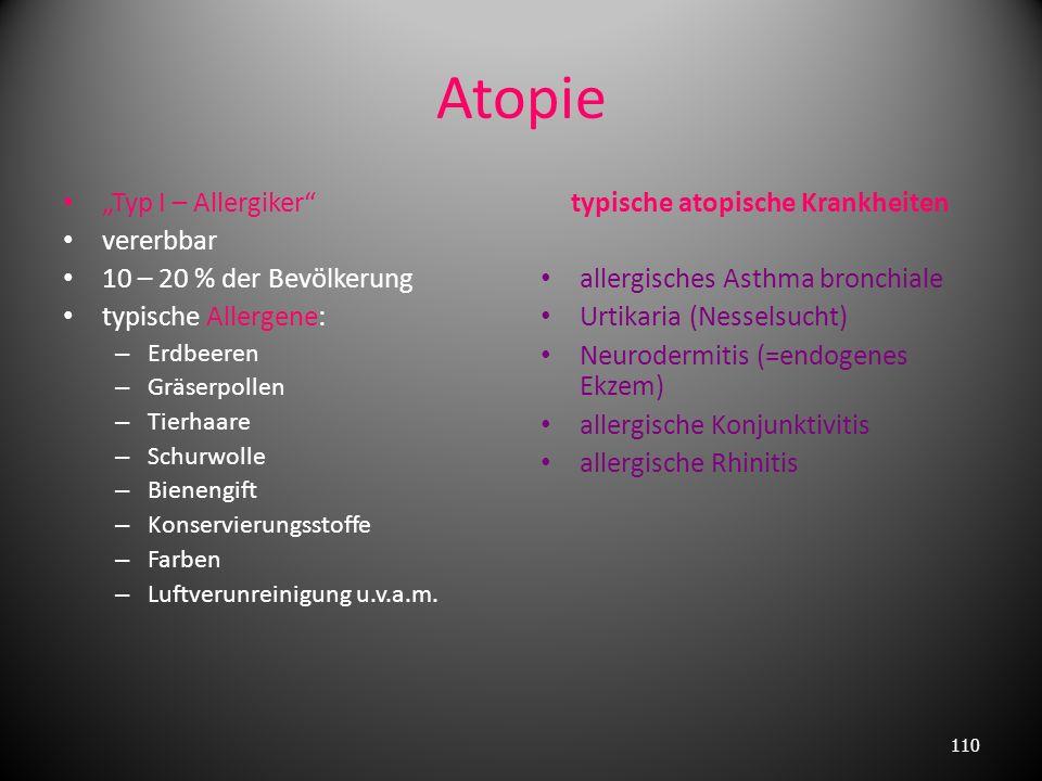 4. allergische Reaktion vom Typ IV (verzögerter Typ, T- Zell vermittelte Reaktion) verantwortlich sensibilisierte T-Zellen nicht beteiligt Antikörper