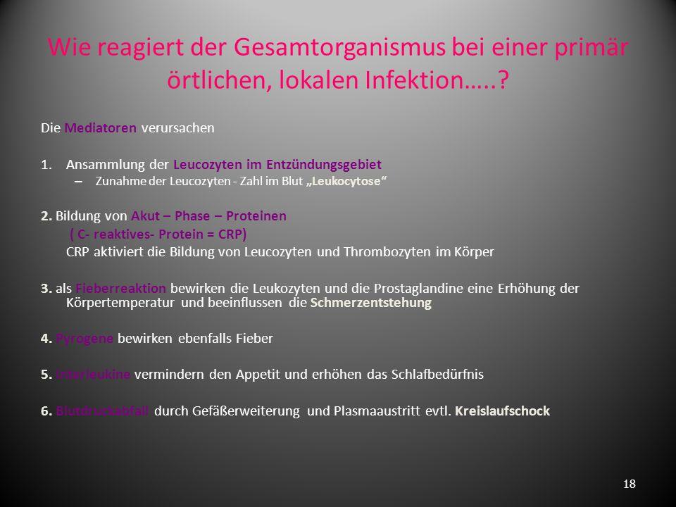 Generalisierte Entzündung Übergang und Ausbreitung der Entzündung auf andere Organgebiete oder den Gesamtorganismus Ausbreitungsmöglichkeiten kontinui