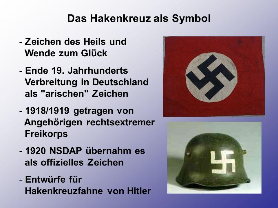 Das Hakenkreuz als Symbol - Zeichen des Heils und Wende zum Glück - Ende 19. Jahrhunderts Verbreitung in Deutschland als