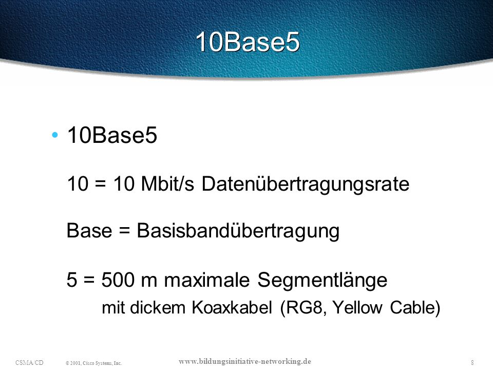 29CSMA/CD © 2001, Cisco Systems, Inc.