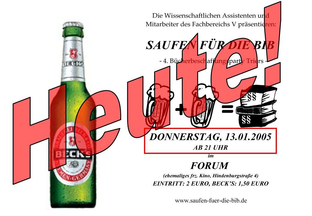 Wiss. Mitarbeiter Heiko A. Haller Universität Trier 2 WS 2004/2005