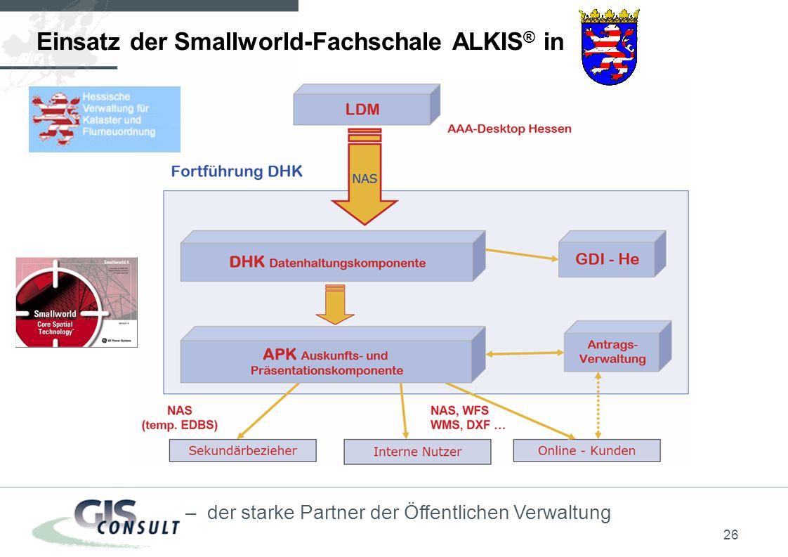26 – der starke Partner der Öffentlichen Verwaltung Einsatz der Smallworld-Fachschale ALKIS ® in