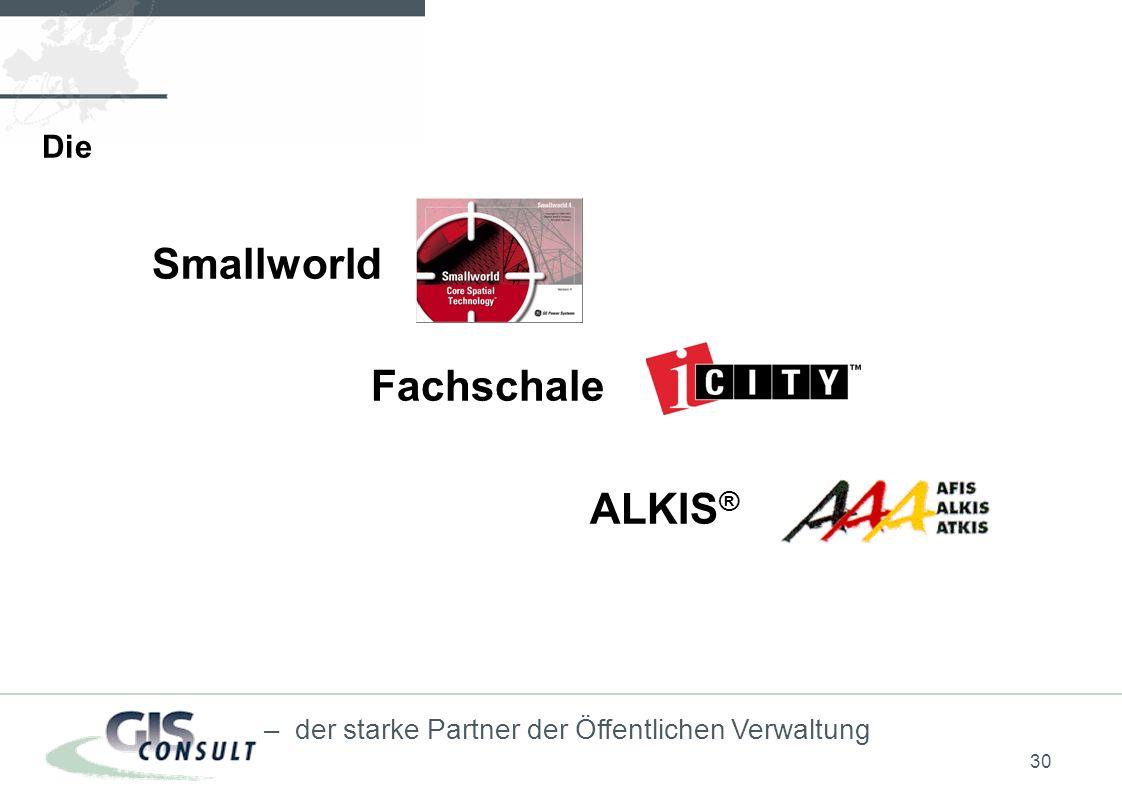 30 – der starke Partner der Öffentlichen Verwaltung Die Smallworld Fachschale ALKIS ®