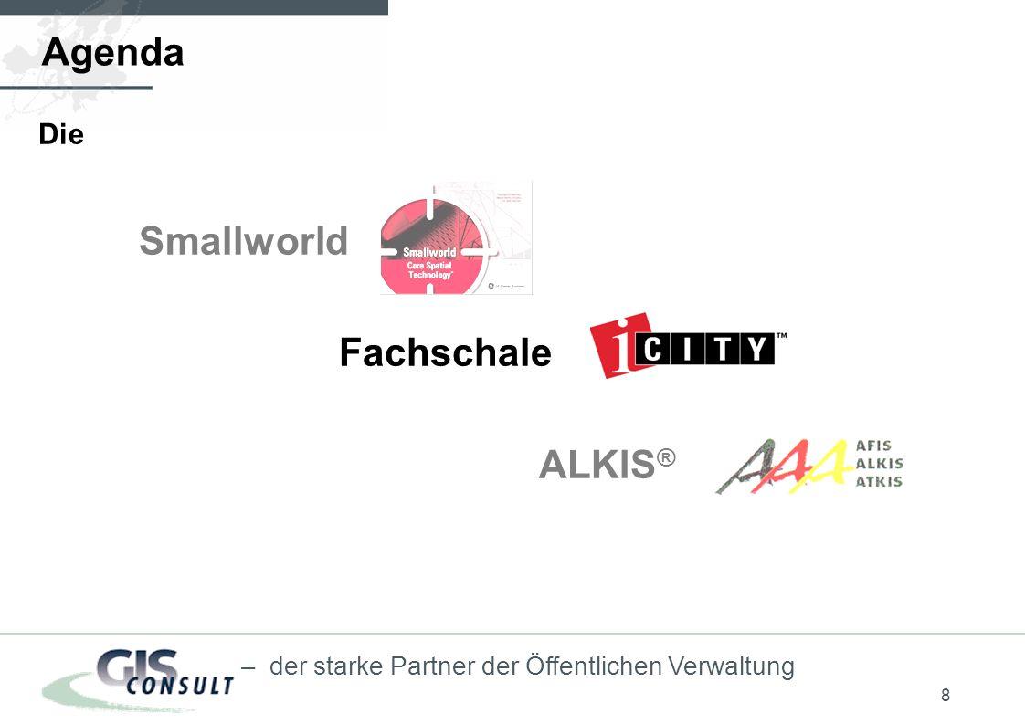 8 – der starke Partner der Öffentlichen Verwaltung Agenda Die Smallworld Fachschale ALKIS ®