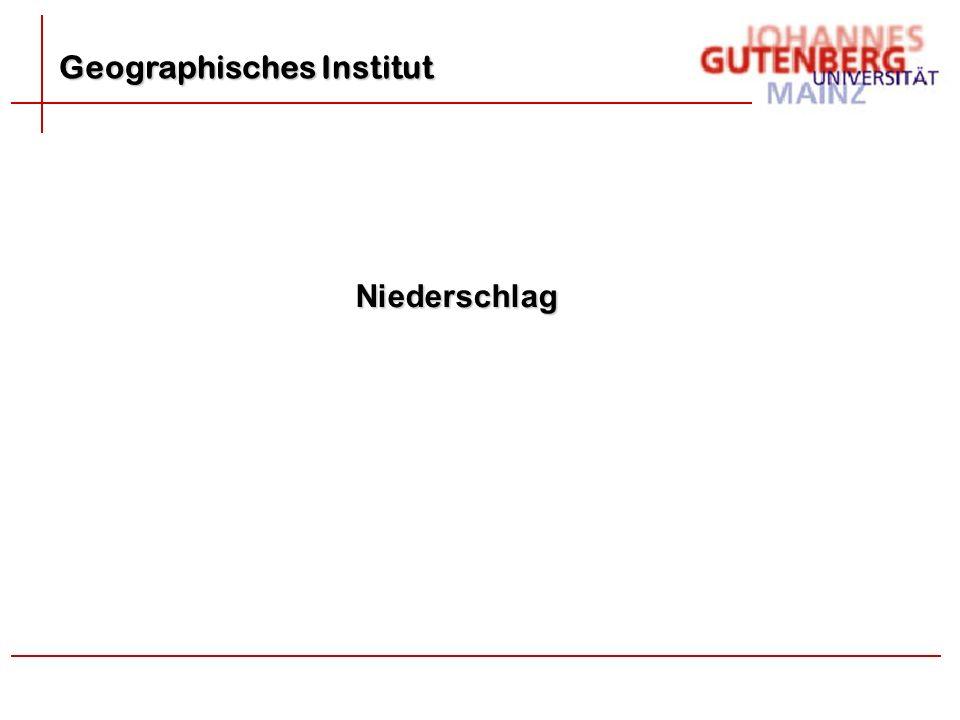Geographisches Institut Niederschlag
