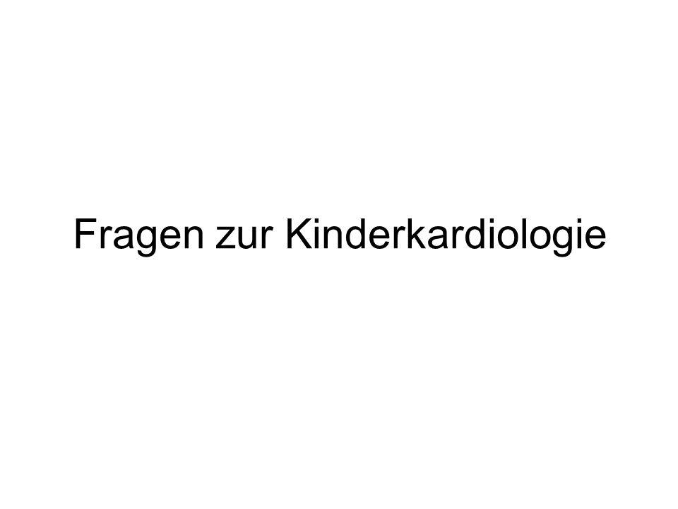 Fragen zur Kinderkardiologie