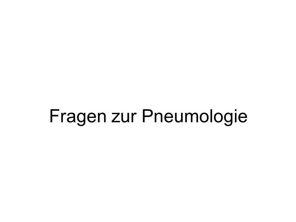 Fragen zur Pneumologie