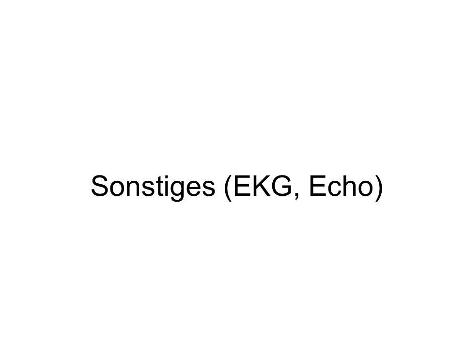 Sonstiges (EKG, Echo)