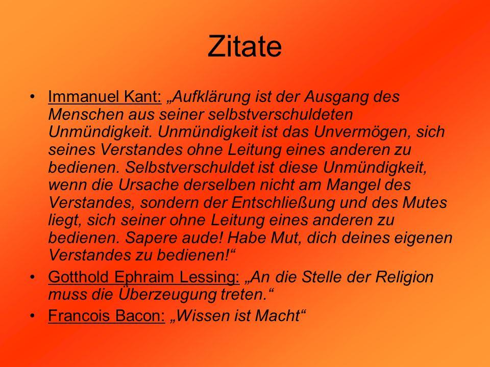 Zitate Immanuel Kant: Aufklärung ist der Ausgang des Menschen aus seiner selbstverschuldeten Unmündigkeit. Unmündigkeit ist das Unvermögen, sich seine