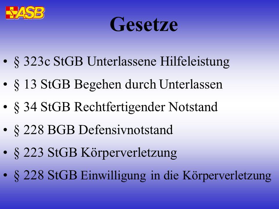 § 323c StGB Unterlassene Hilfeleistung Wer bei Unglücksfällen...