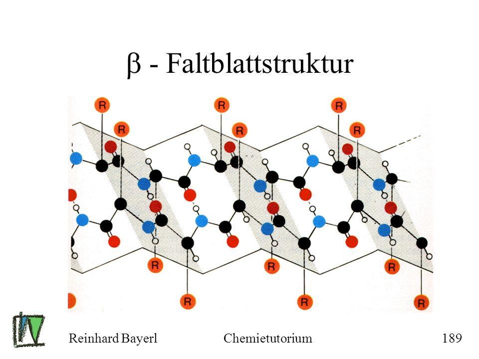 Reinhard BayerlChemietutorium189 - Faltblattstruktur