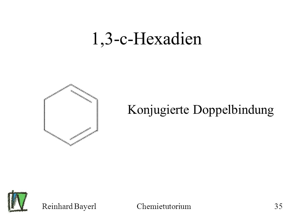 Reinhard BayerlChemietutorium35 1,3-c-Hexadien Konjugierte Doppelbindung
