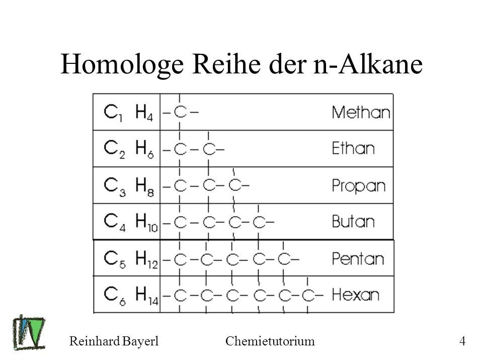 Reinhard BayerlChemietutorium25 Alkane: Siehe Skript Seite 13, 14 Alkene: Siehe Skript Seite 20, 21 Aromaten: Siehe Skript Seite 27,28