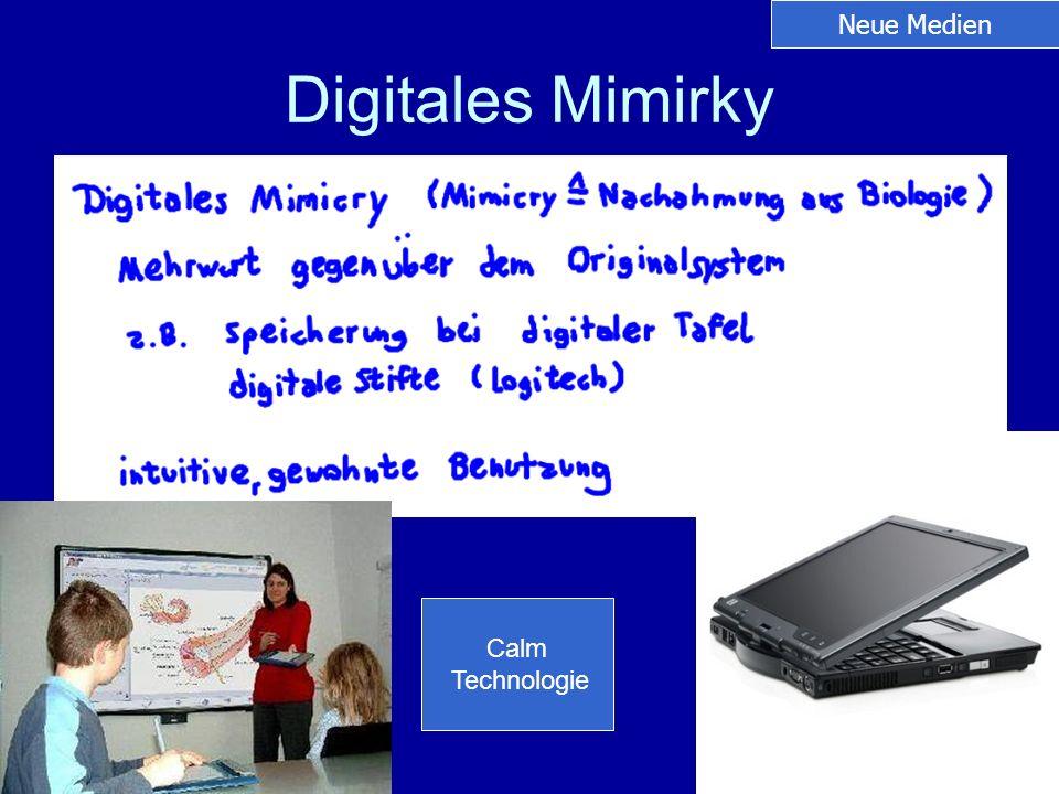 Digitales Mimirky Neue Medien Calm Technologie