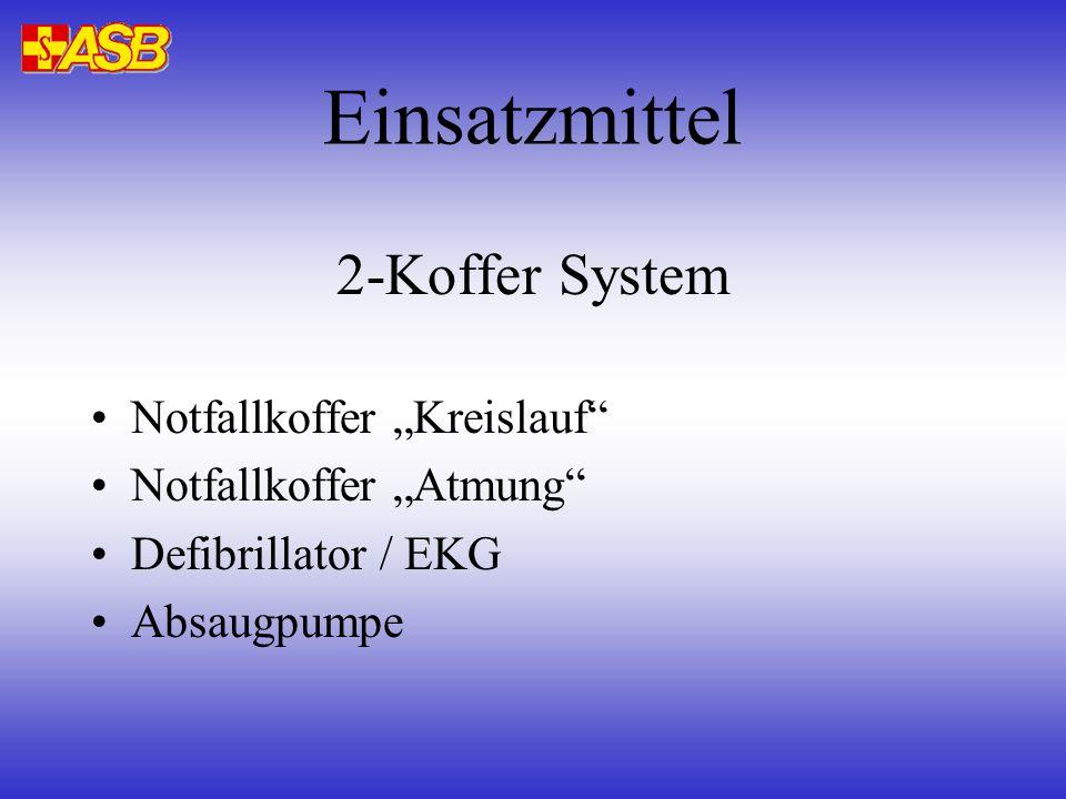 2-Koffer System Notfallkoffer Kreislauf Notfallkoffer Atmung Defibrillator / EKG Absaugpumpe Einsatzmittel