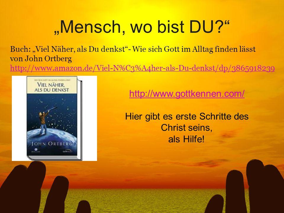 Buch: Viel Näher, als Du denkst- Wie sich Gott im Alltag finden lässt von John Ortberg http://www.amazon.de/Viel-N%C3%A4her-als-Du-denkst/dp/386591823