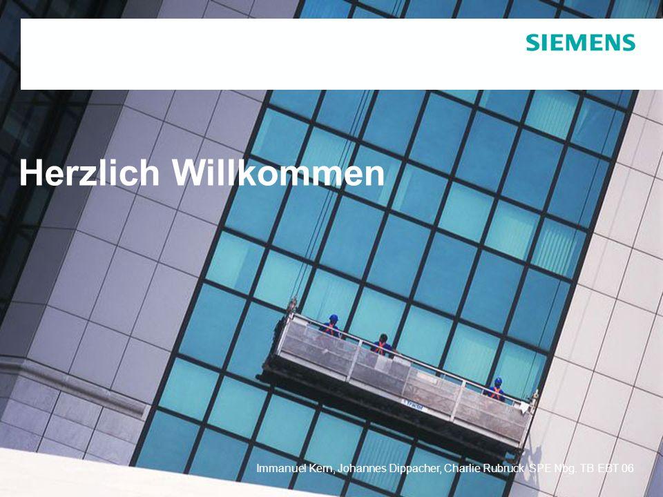 Protection notice / Copyright noticeImmanuel Kern, Johannes Dippacher, Charlie Rubruck SPE Nbg. TB EBT 06 Herzlich Willkommen