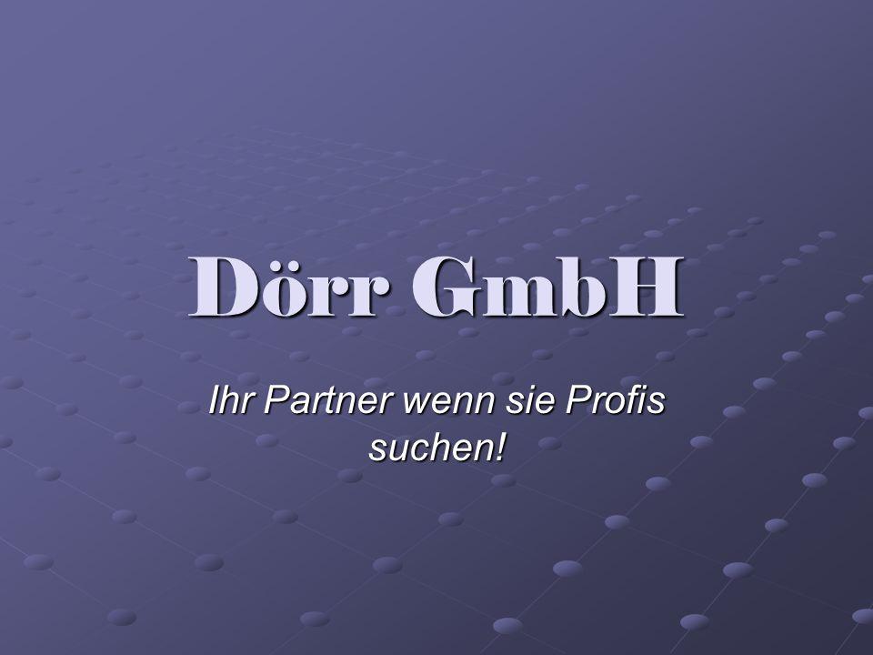 Dörr GmbH Ihr Partner wenn sie Profis suchen!