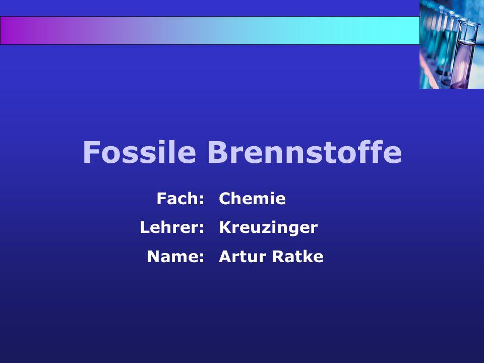 Struktur 1.Vorwort: Fossile Brennstoffe Erdöl 2.