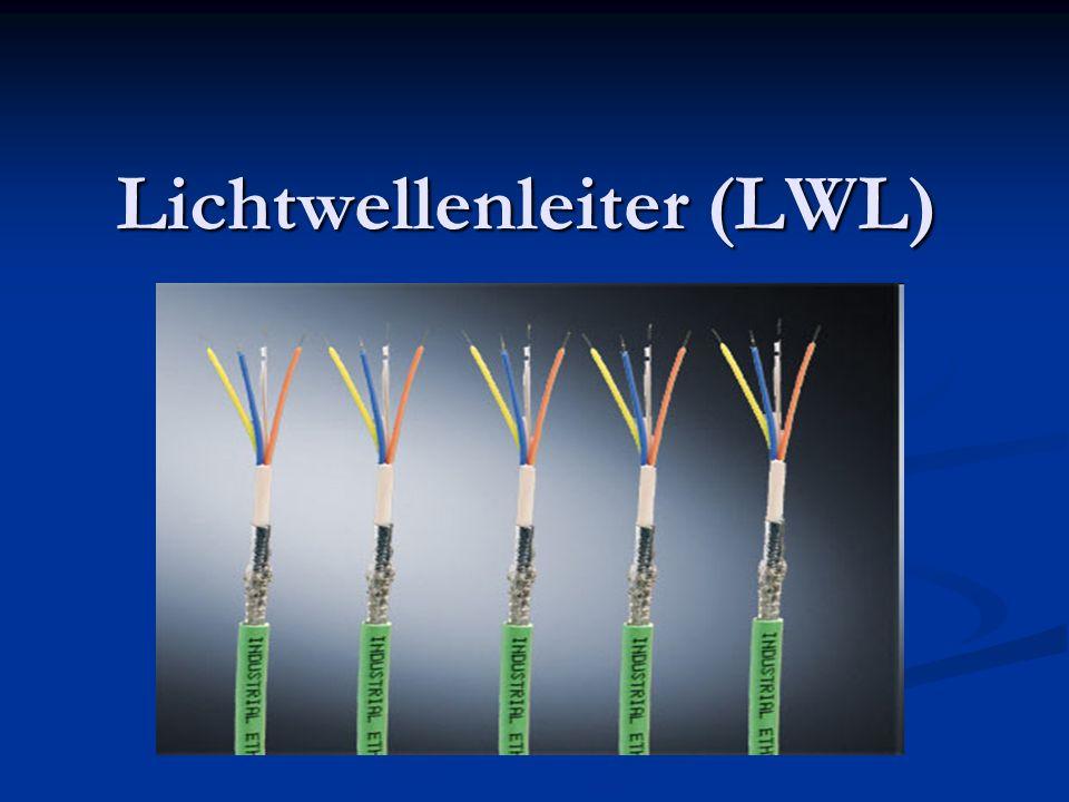 Index Lichtwellenleiter (LWL / Glasfaser) Lichtwellenleiter (LWL / Glasfaser) Unterschiede zu anderen Übertragungsarten Unterschiede zu anderen Übertragungsarten Aufbau des Lichtwellenleiters Aufbau des Lichtwellenleiters Übertragung von Daten über einen LWL Übertragung von Daten über einen LWL Vorteile der Lichtwellenleiter gegenüber Kupferkabel Vorteile der Lichtwellenleiter gegenüber Kupferkabel