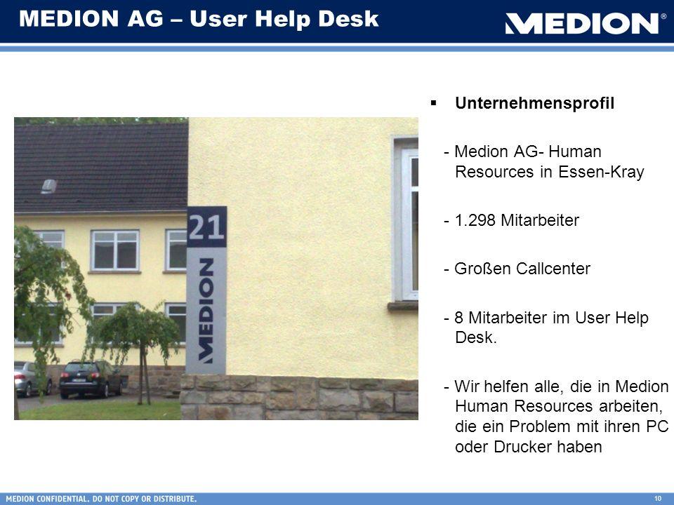 10 MEDION AG – User Help Desk Unternehmensprofil - Medion AG- Human Resources in Essen-Kray - 1.298 Mitarbeiter - Großen Callcenter - 8 Mitarbeiter im