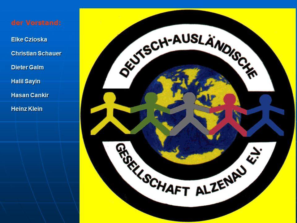 der Vorstand: Elke Czioska Christian Schauer Dieter Galm Halil Sayin Hasan Cankir Heinz Klein