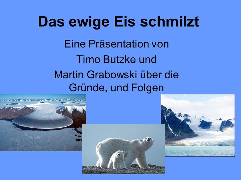 Das ewige Eis schmilzt Eine Präsentation von Timo Butzke und Martin Grabowski über die Gründe, und Folgen