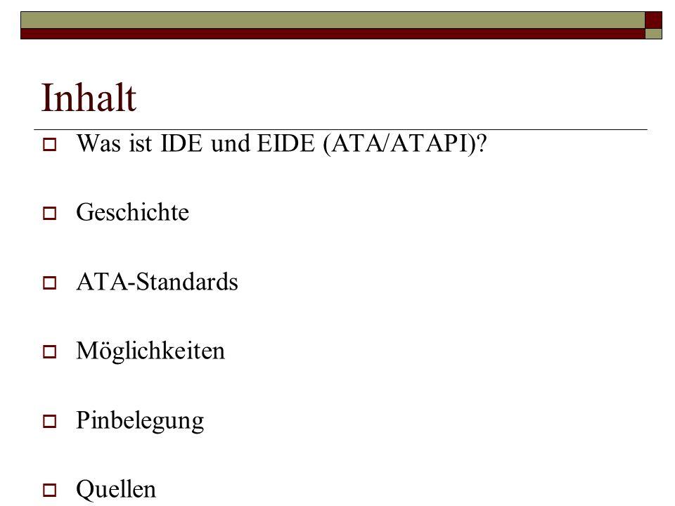 Was ist IDE und EIDE (ATA/ATAPI).