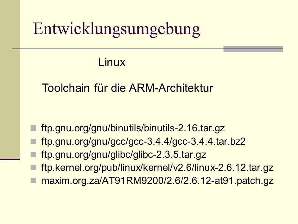 ftp.gnu.org/gnu/binutils/binutils-2.16.tar.gz ftp.gnu.org/gnu/gcc/gcc-3.4.4/gcc-3.4.4.tar.bz2 ftp.gnu.org/gnu/glibc/glibc-2.3.5.tar.gz ftp.kernel.org/